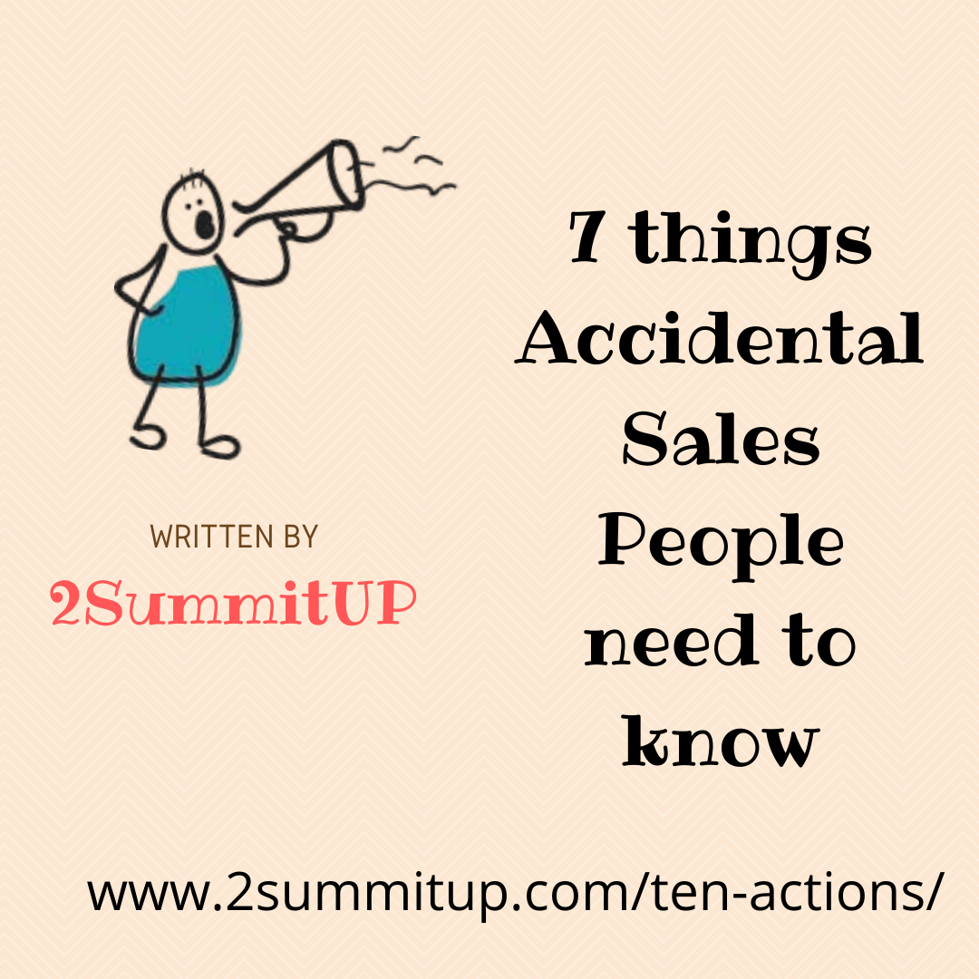 7 things accidental sales people need to know
